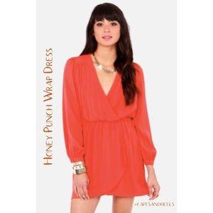 Honey Punch   Melon That's a Wrap Dress